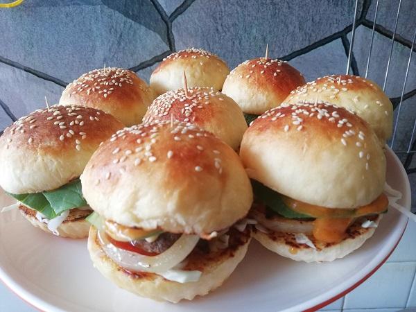 cara-buat-roti-burger